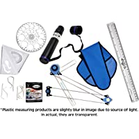 POPULAR Mini Drafter Combo 1 – for Engineering Drawing – for Students, Architect, Artist – Contains Minidrafter, Sheet Container Tube, Scale, Procircle, Set Square & Board Clips (Combo 1)