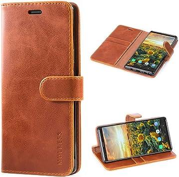 Mulbess Funda Samsung Galaxy Note 9 [Libro Caso Cubierta] [Vintage de Billetera Cuero de la PU] con Tapa Magnética Carcasa para Samsung Galaxy Note 9 Case, Marrón: Amazon.es: Electrónica