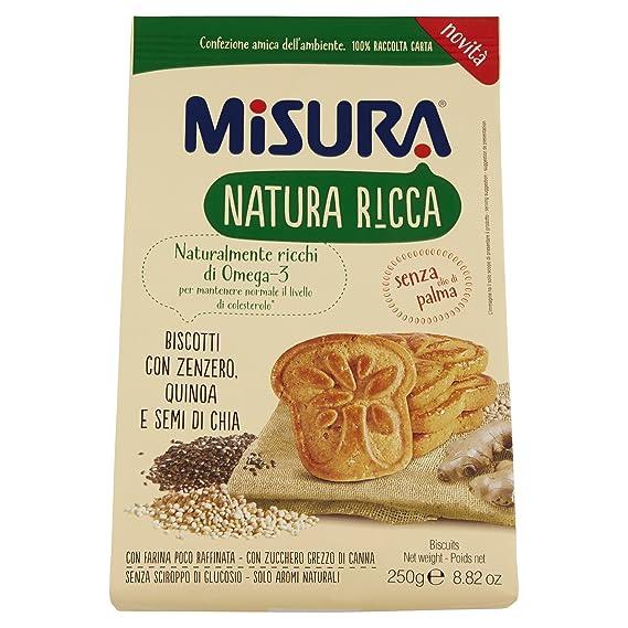 MISURA galletas con quinoa jengibre y semi de chia natura ricca250 g