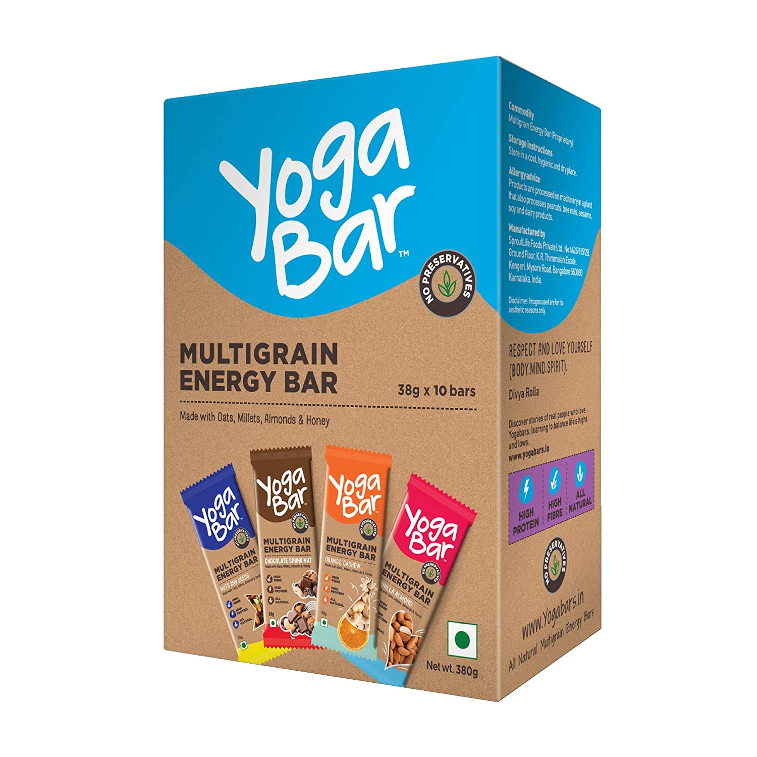 Yogabar Multigrain-Energy Snack Bars