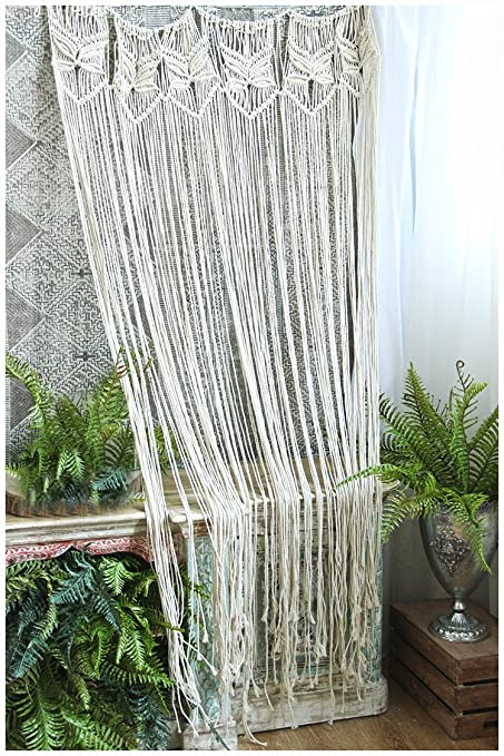 Macrame Curtains Part - 32: HiPlus Butterfly Macrame Wall Hanging Tapestry- Macrame Curtains For  Door,Window,Closet,