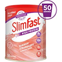 SlimFast High Protein Meal Replacement, Summer Strawberry, Serving 50