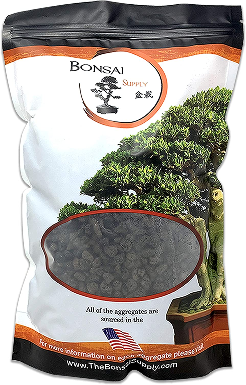 Lava Rock, Soil Aggregate for Bonsai, Cactus, Succulents, and Other Container Grown Plants, enables Optimal Drainage, Improves Soil Aeration 1/4 inch Black Lava Rock (2 Quarts Bag)