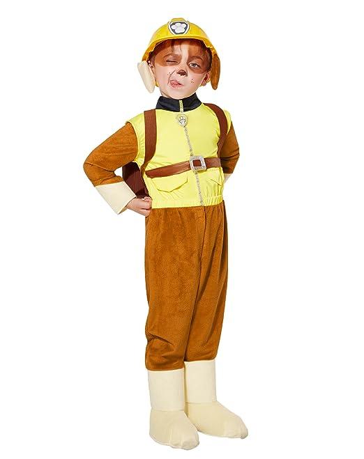 amazoncom spirit halloween toddler rubble costume deluxe paw patrol 5 6t clothing