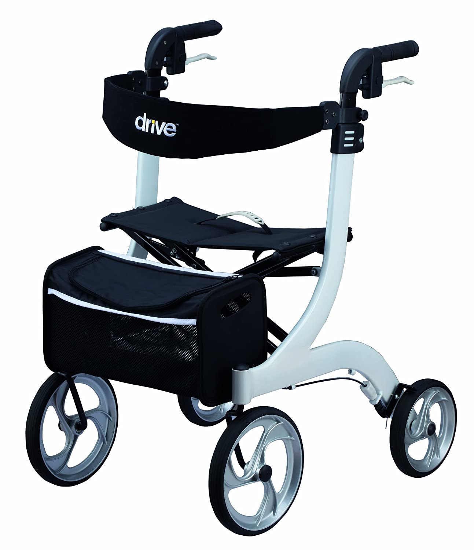 Drive Medical Rollator Nitro - Andador con ruedas (tamaño L)