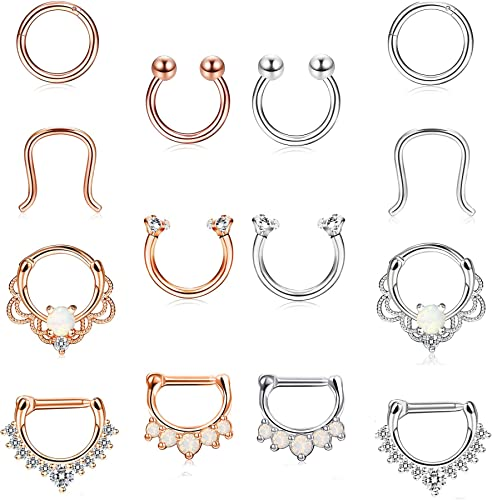 Amazon Com Funrun Jewelry 14pcs 16g Stainless Steel Septum Ring