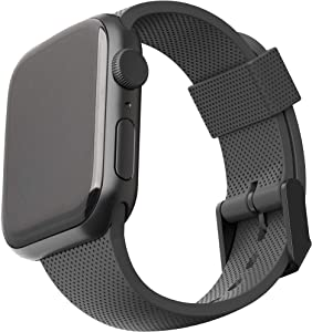 URBAN ARMOR GEAR Compatible with Apple Watch Band 44mm 42mm, iWatch Series 6/5/4/3/2/1 & Watch SE, Soft Stylish Dot Silicone Pattern Sport Replacement Strap, Black