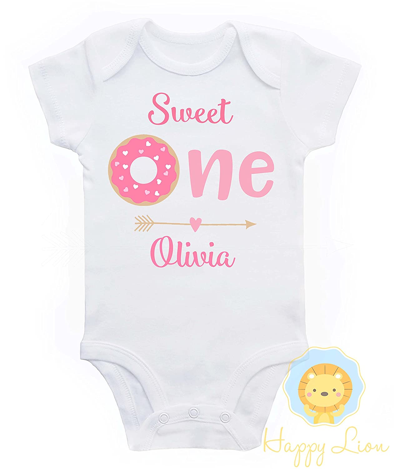 Happy Lion Clothing - Donut First Birthday Onesie®, 1st Birthday outfit