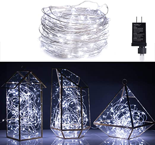 CA USB Silver Wire String Fairy Light Strip Lamp Xmas Party Wedding 5-10M HOT N7