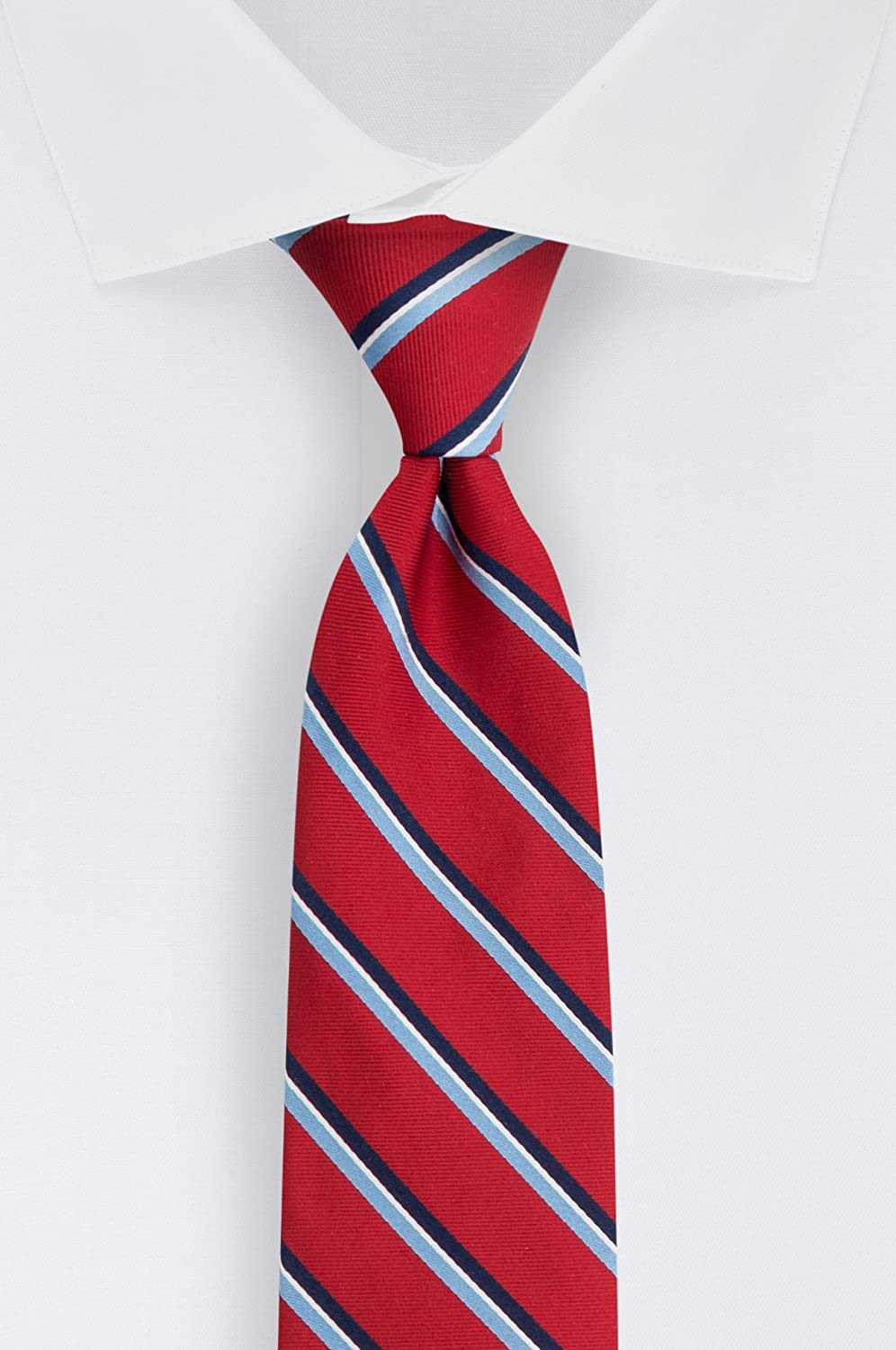 5b393283e041 Tommy Hilfiger Men's Stripe Tie, Navy, One Size at Amazon Men's Clothing  store: