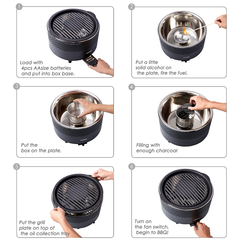 Barbacoa Portátil de Carbón sin Humo por solo 48,29€ con el código 2WRXOGP8