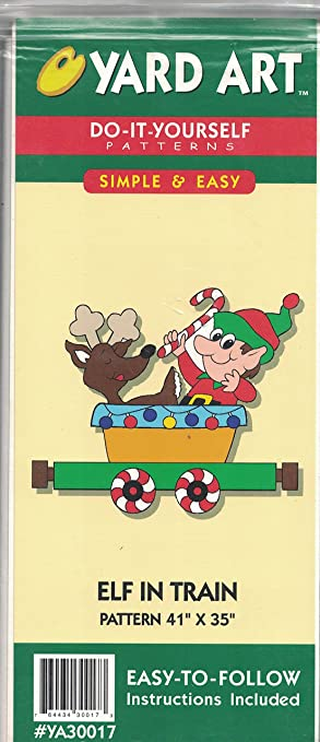 Amazon yard art do it yourself patterns elf in train 41x35 yard art do it yourself patterns elf in train 41x35 reindeer and presents solutioingenieria Images
