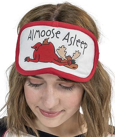LazyOne Unisex Grey Plaid Plush Sleep Mask