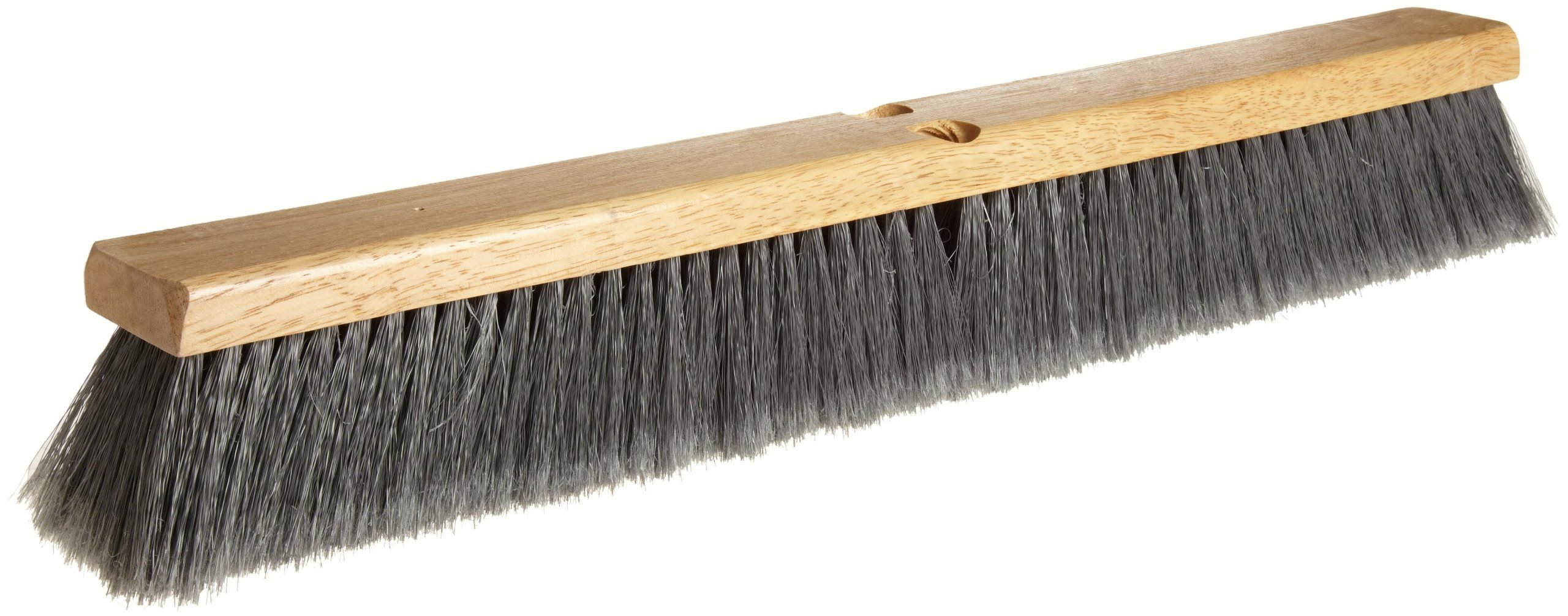 Weiler 42042 Polystyrene Fine Sweep Floor Brush, 2-1/2'' Handle Width, 24'' Overall Length, Natural