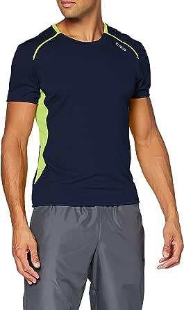 CMP T-Shirt Da Running Traspirante con Trattamento Antibatterico camiseta, Hombre