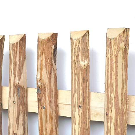 Estacas de madera de avellano para construir vallas de madera-, Marrón