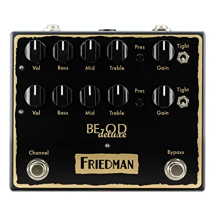 defc25f1b71 Amazon.com  Friedman Amplification BE-OD Deluxe Dual Overdrive Guitar  Effects Pedal  Musical Instruments