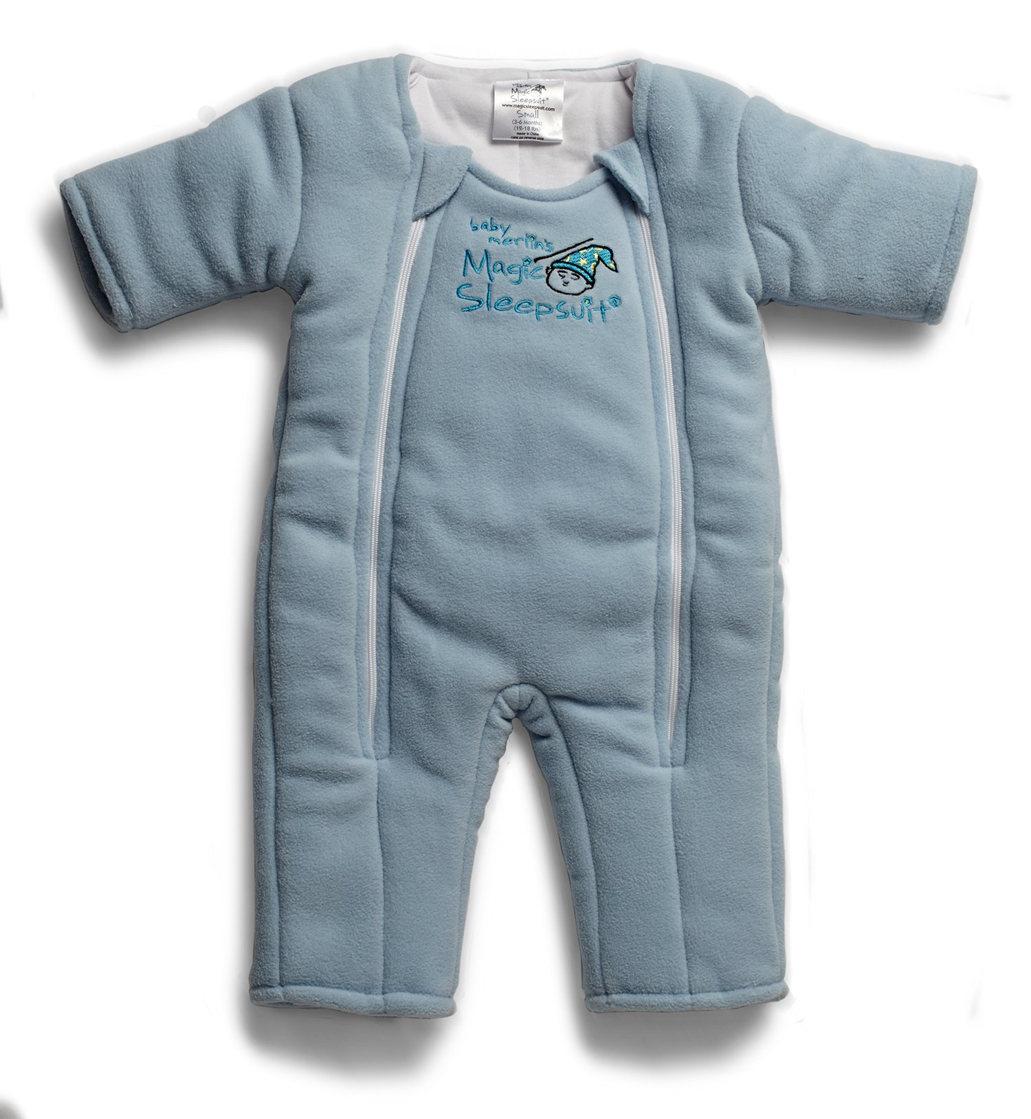 Baby Merlin's Magic Sleepsuit - Swaddle Transition Product - Microfleece - Blue - 3-6 Months by Baby Merlin's Magic Sleepsuit