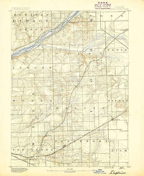 Amazon.com: YellowMaps Des Plaines IL topo map, 1:62500 ...