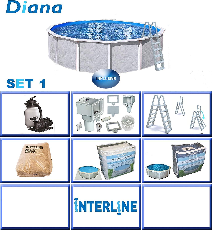 Interline 50000035 Diana A y 96188 Pool Set 1 acero pared Pool 3 ...