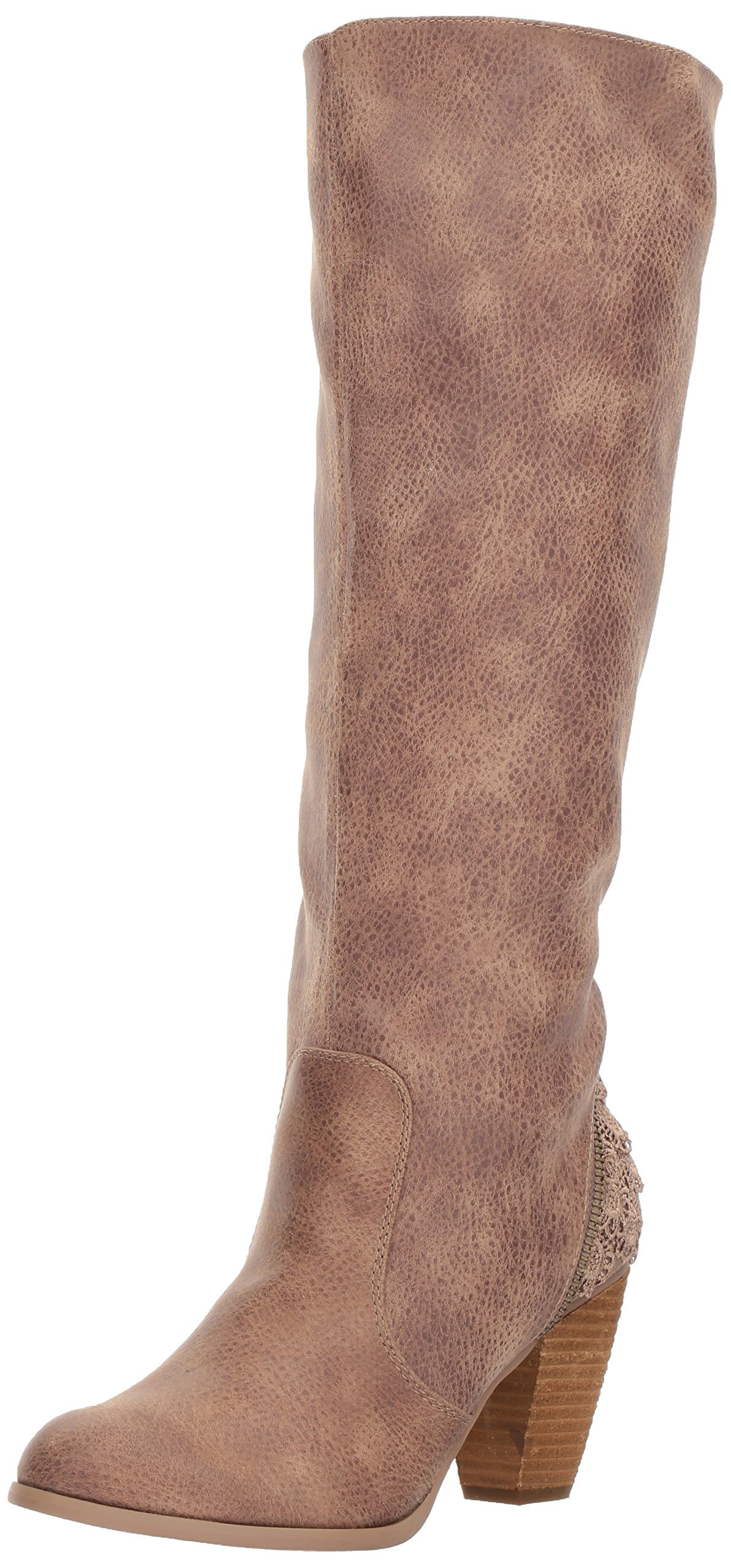 Not Rated Women's Sass It up Riding Boot, Taupe, 9.5 M US