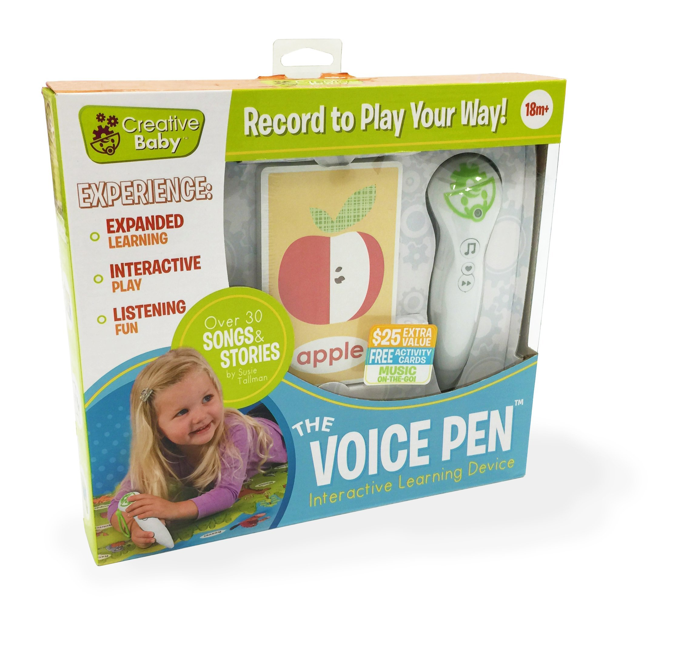 Amazon com creative baby voice pen with interactive flash cards baby