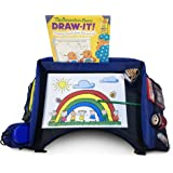 Travel Tray - Perfect For Kids In Car Seat, Train, Plane, Stroller - Snack & Play On The Go - Multipurpose Dinner Lap & Foldable Adult Desk w Organizers For Storage, Laptop, Tablet & Writing