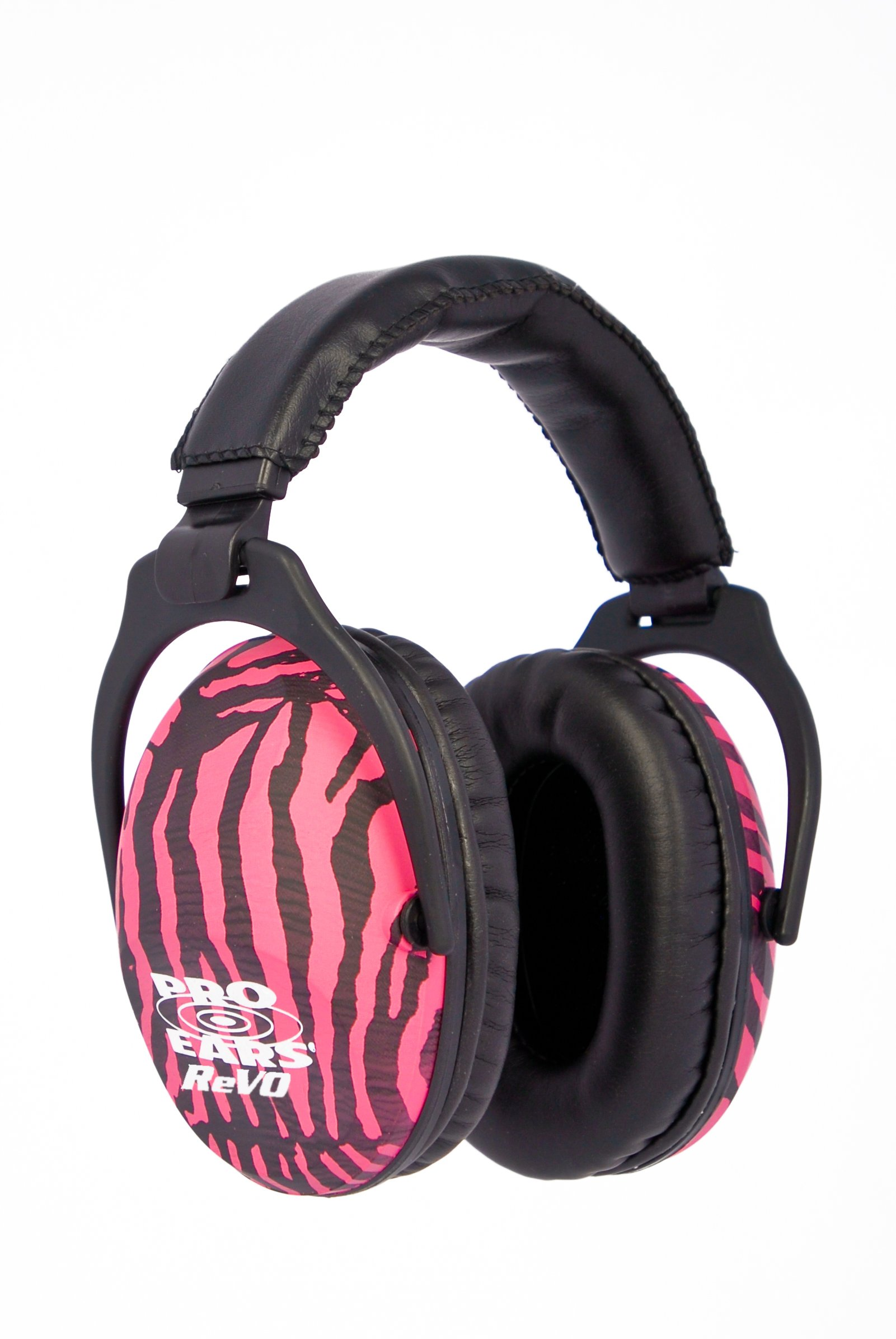 Pro Ears - ReVO - Hearing Protection - NRR 25 - Youth and Women Ear Muffs - Pink Zebra by Pro Ears (Image #1)