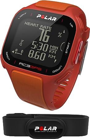 Polar RC3 GPS HR - Reloj con pulsómetro y GPS integrado, compatible con sensor de zancada, de cadencia y de velocidad para running y ciclismo (naranja/rojo): Amazon.es: Deportes y aire libre