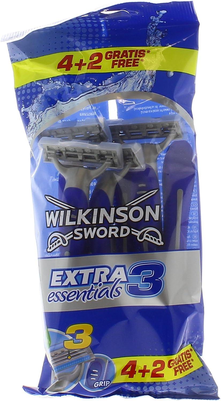 R & G Wilkinson extra 3 X4 + 2 Essentials afeitadora: Amazon.es ...