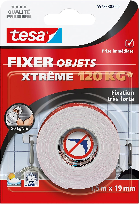 Tesa 55791 00007 00 Fixer Objets Xtreme 150 Kg 15 Mx 19 Mm