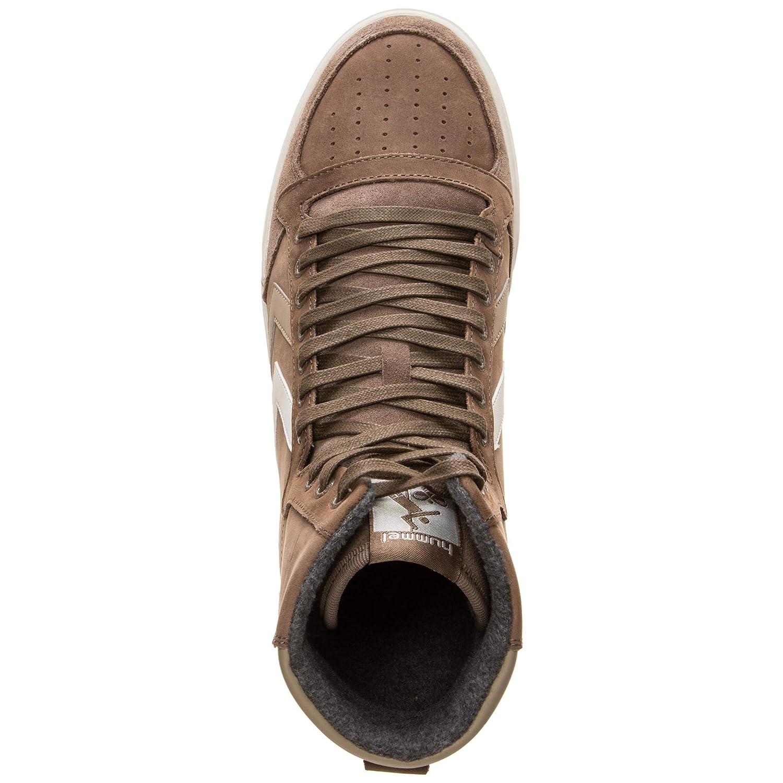 Hummel scarpe Slimmer Slimmer Slimmer Stadil Duo Oiled High Taupe grigio (201-942-1513) 39 Marrone 098112