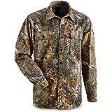 Guide Gear Men's Button Front Hunting Shirt, Mossy Oak Country Camo, XL