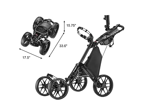 CaddyTek One-Click Folding 4 Wheel V 3 Golf Cart Review