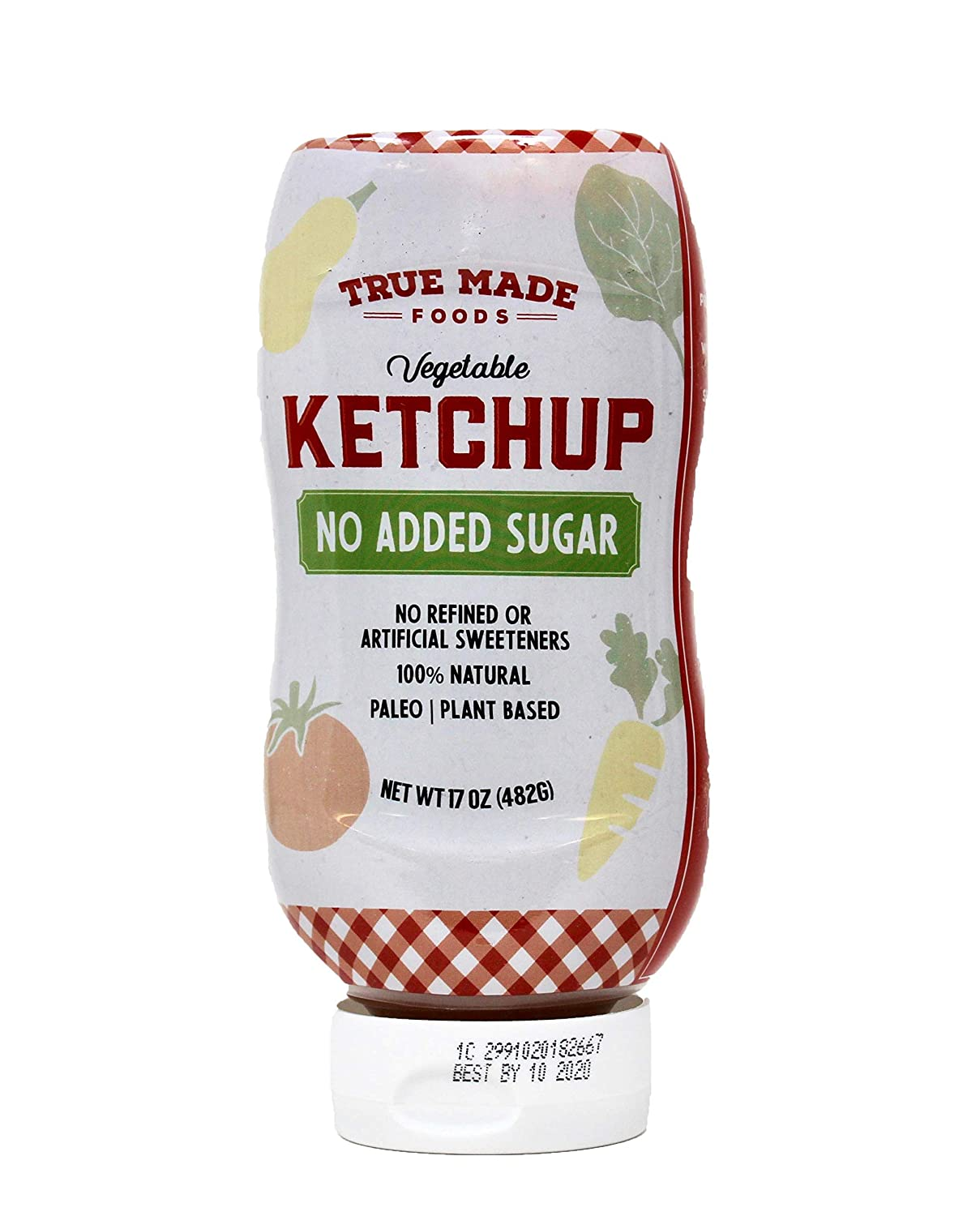 True Made Foods, No Added Sugar Vegetable Ketchup Squeeze, 17 Oz