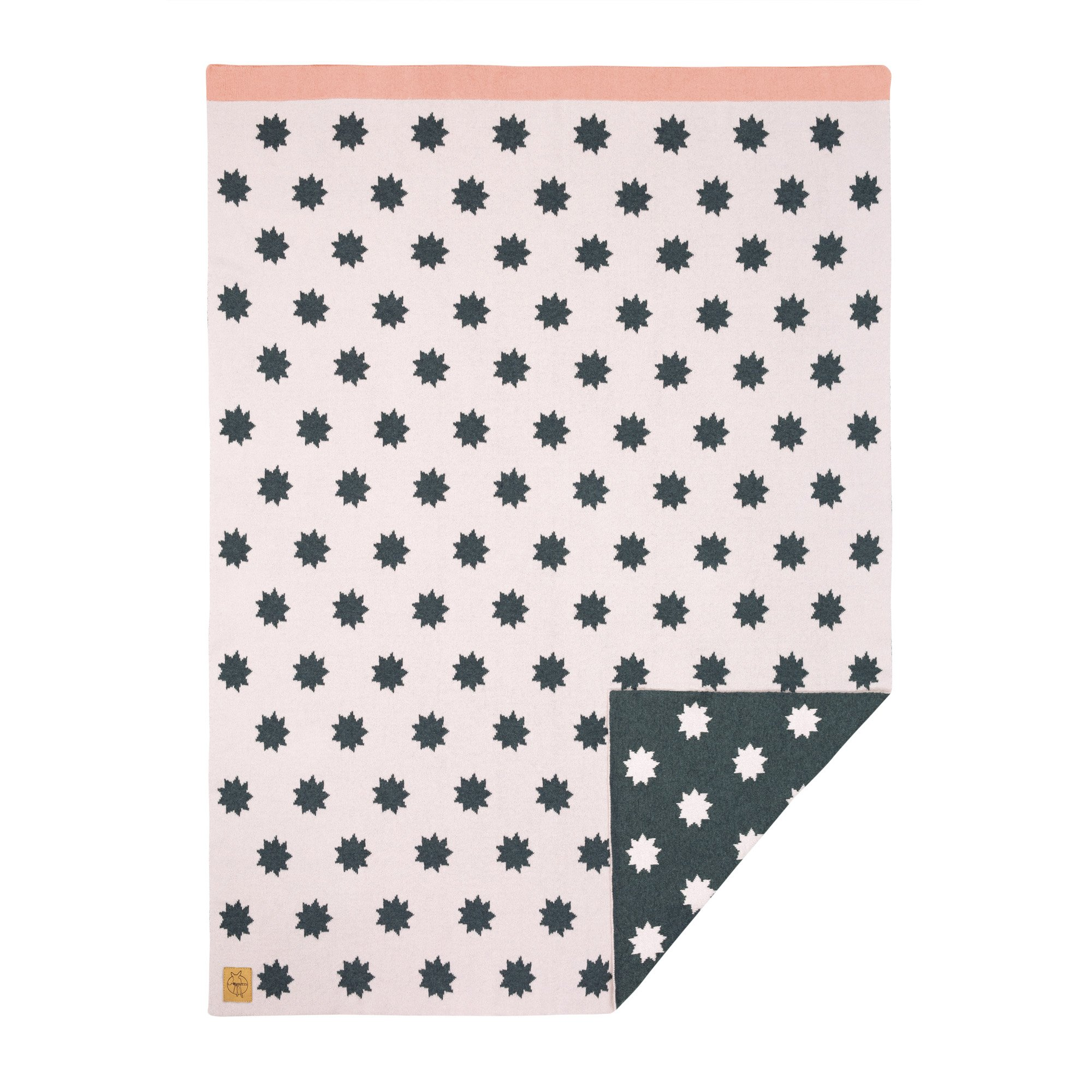 Lassig Baby Knitted Blanket Little Chums Stars, Starlight Pink
