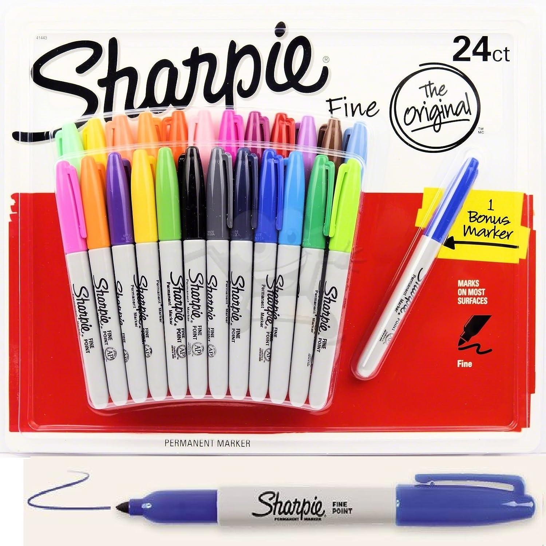 Sharpie - Rotuladores permanentes de punta fina: Amazon.es: Oficina y papelería
