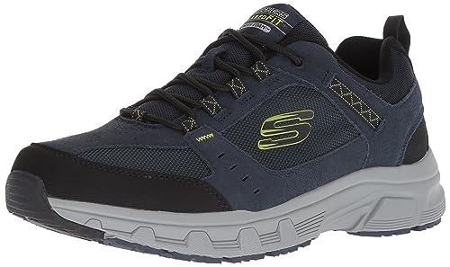 buy popular cf79d 7b125 Skechers Oak Canyon Sneaker Uomo, Blu (Navy Lime Nvlm) 39.5 EU