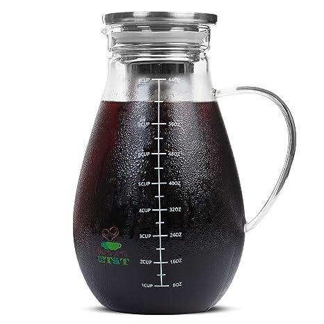 Amazon.com: BTäT - Cafetera fría, Cafetera helada, 2 litros ...