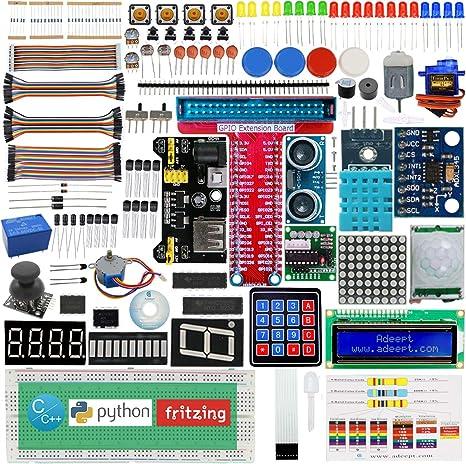 Adeept New Ultimate Starter Learning Kit for Raspberry Pi 3 2 ...