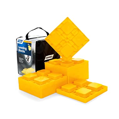Camco Heavy Duty Leveling Blocks, Ideal For Leveling Single and Dual Wheels, Hydraulic Jacks, Tongue Jacks and Tandem Axles (10 pack, Frustration-Free Packaging)