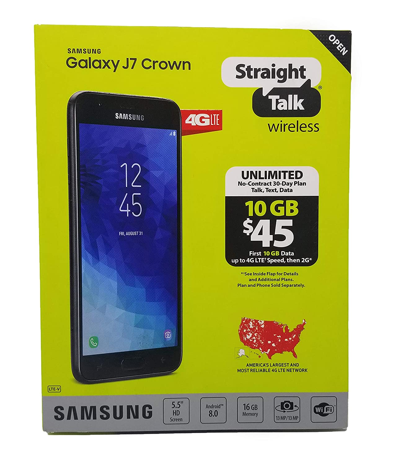 Straight Talk Samsung Galaxy J7 Crown Prepaid Smartphone