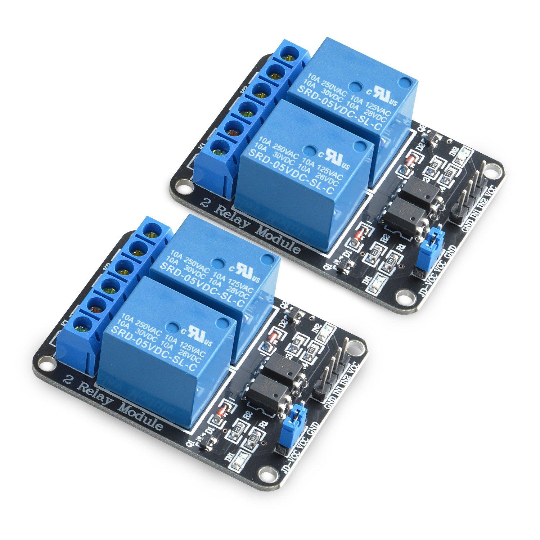 Neuftech 2-CH 5V 2 Kanä le Relais Modul-Brett fü r Arduino PIC AVR DSP MCU Relais Modul Generika 101-70-100