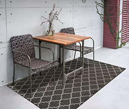 Gertmenian Seneca Prime Contemporary Outdoor Furniture Rug, 5x7 Standard,  Brown