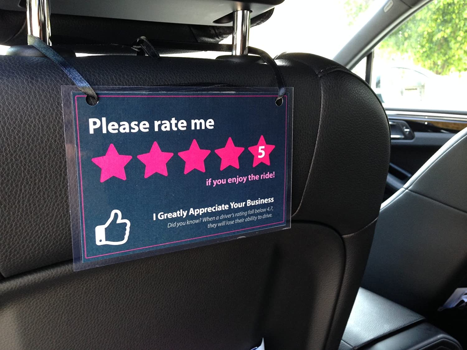 Amazon set of 3 uber lyft headrest 5 star ratings decal amazon set of 3 uber lyft headrest 5 star ratings decal sign rideshare car display cards automotive magicingreecefo Image collections