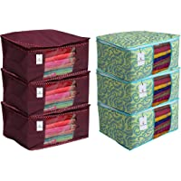 Kuber Industries 6 Piece Non Woven Saree Cover Set