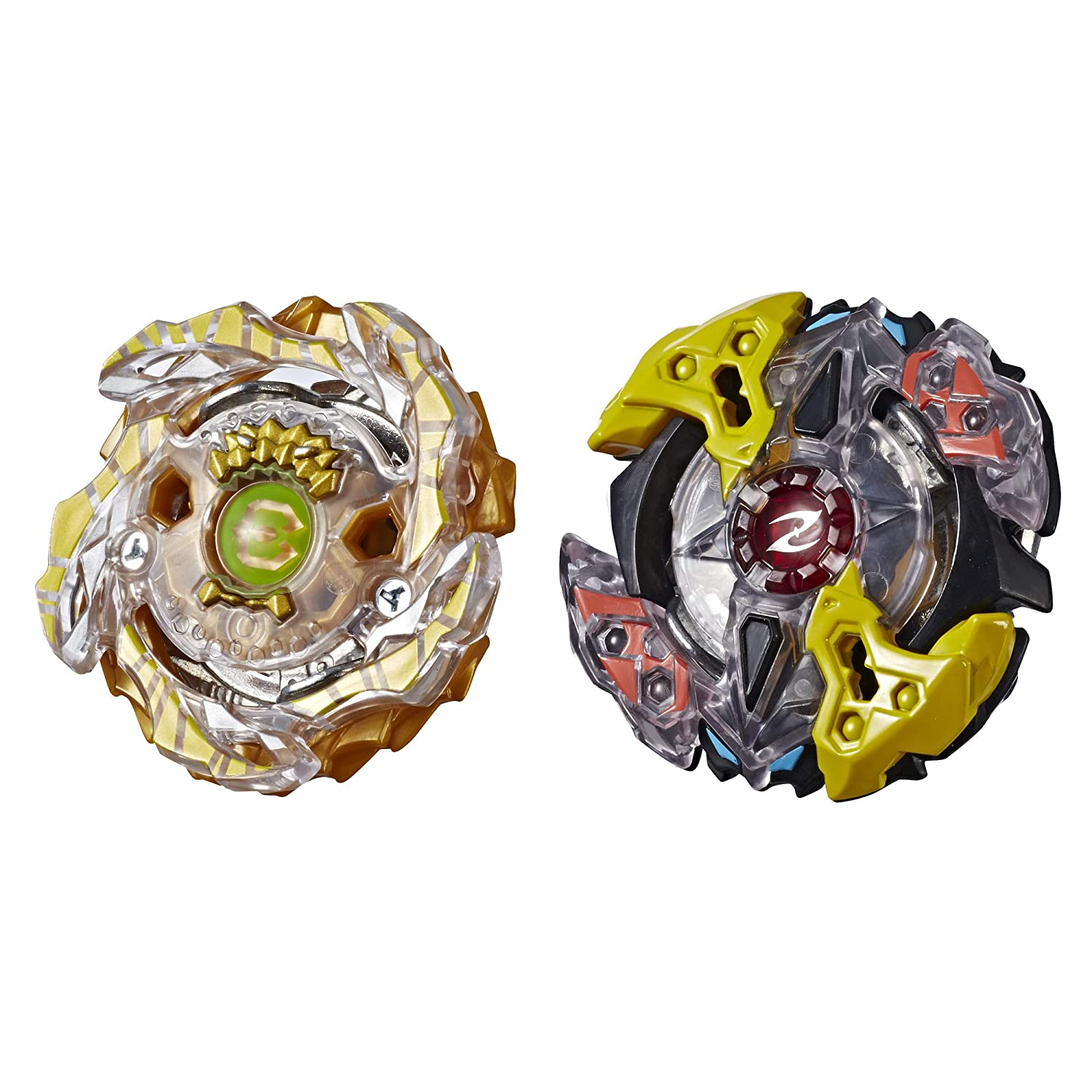 BEYBLADE Burst Turbo Slingshock Dual Pack Galaxy Zeutron Z4, Gold-X BETROMOTH B4, Multicolor