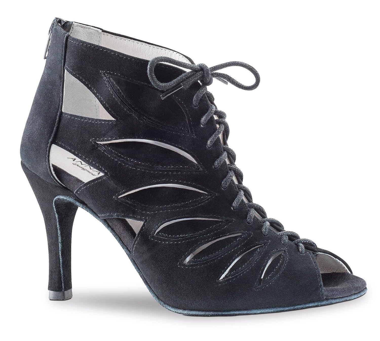 Anna Kern - Damen Damen Damen Tanzschuhe 890-75 - Velourleder Schwarz - 7,5 cm Absatz B0776D8M53 Tanzschuhe Üppiges Design 422894