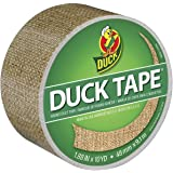 Duck Brand 283713 Printed Duct Tape, Burlap, 1.88 Inches x 10 Yards, Single Roll