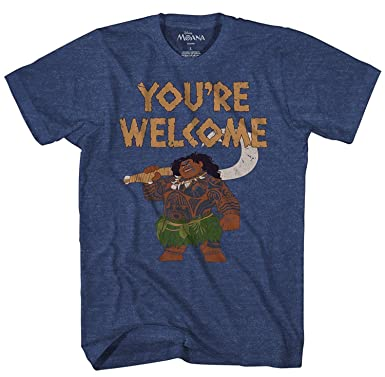 ea1df5fe Amazon.com: Disney Moana Maui You're Welcome T-Shirt: Clothing